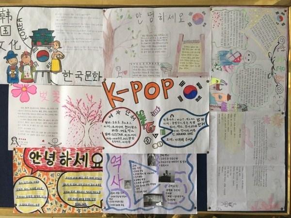 商务外语系举办韩文手抄报展活动-山东科技职业学院